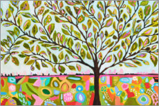 Akrylglastavla  Happy tree of life - Karen Fields