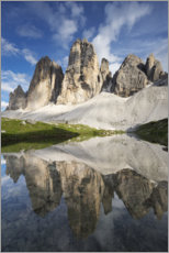 Akrylglastavla  The Three Peaks in the Dolomites - Tobias Richter