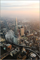 Premiumposter The Shard at sunset from the top, London, UK