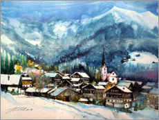Akrylglastavla  Alpbach in winter, Tyrol - Johann Pickl