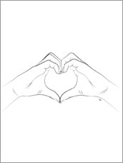 Premiumposter  Heart symbol - Martina illustration