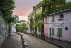 Premiumposter Streets of Montmartre in Paris