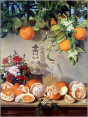 Canvastavla  Still life with oranges - Rafael Romero Barros
