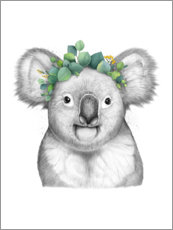 Premiumposter Koala with eucalyptus