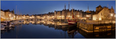 Canvastavla  Old town and harbor of Honfleur, Normandy - Tobias Richter