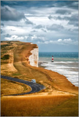Premiumposter White Cliffs in southern England
