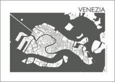 Poster  City map of Venice - 44spaces