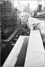 Aluminiumtavla  Marilyn Monroe i New York - Celebrity Collection