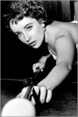 Premiumposter  Elizabeth Taylor at billiards - Celebrity Collection