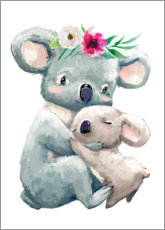 Canvastavla  Koala mom - Kidz Collection