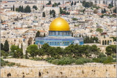 Premiumposter  View from the Mount of Olives in Jerusalem - HADYPHOTO