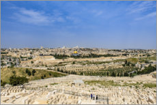 Premiumposter  View over Jerusalem - HADYPHOTO