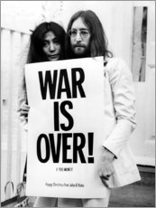 Akrylglastavla  Yoko & John - War is over!