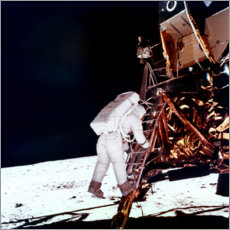 Premiumposter  Edwin Buzz Aldrin on the moon