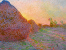 Canvastavla  Haystacks - Claude Monet