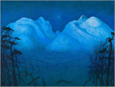 Premiumposter  Winter night in the mountains - Harald Oscar Sohlberg
