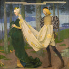 Akrylglastavla  The queen and the page - Marianne Stokes
