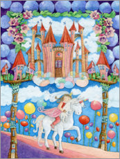 Akrylglastavla  Princess and the unicorn in the magic land - Atelier BuntePunkt