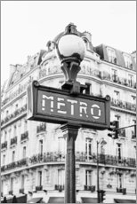 Premiumposter Metro in Paris