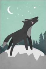Premiumposter Howling Wolf