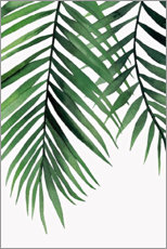 Premiumposter  Green leaves II - Art Couture