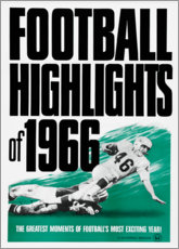 Canvastavla  Football Highlights 1966 - Advertising Collection