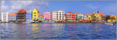 Akrylglastavla  Colorful harbor buildings of Willemstad, Curacao