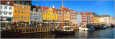 Premiumposter  Sailboats in the Nyhavn canal