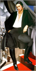 Canvastavla  Portrait of the Duchess of La Salle 1925 - Tamara de Lempicka