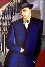 PVC-tavla  Portrait of the Marquis of Afflito on the staircase 1926 - Tamara de Lempicka