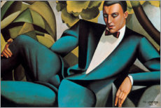 Canvastavla  Portrait of the Marquis d'Afflitto - Tamara de Lempicka