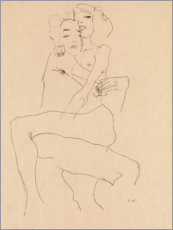 Aluminiumtavla  Couple Embracing - Egon Schiele