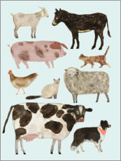 Premiumposter  Farm animals II - Victoria Borges