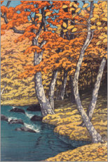 Canvastavla  Autumn at Oirase - Kawase Hasui