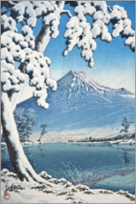 Canvastavla  Fuji after the snow in Tagonoura Bay - Kawase Hasui