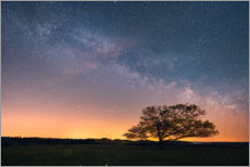 Premiumposter Starry sky and Milky Way in the Harz