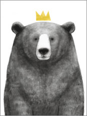 Canvastavla  Royal Bear - Victoria Borges
