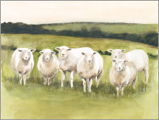 Canvastavla  Sheep in the pasture - Victoria Borges