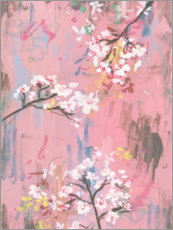 Canvastavla  Cherry blossoms on pink - Melissa Wang