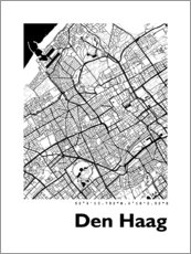 Premiumposter City map of The Hague