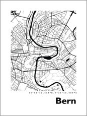 Canvastavla  City map of Bern - 44spaces