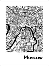Premiumposter  City map of Moscow - 44spaces