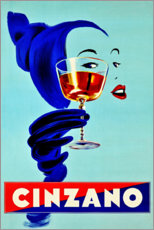 Canvastavla  Cinzano - Prost - Advertising Collection