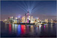 Premiumposter Light show over Pudong