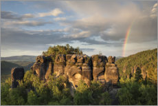 Galleritryck  Rainbow over Saxon Switzerland - Tobias Richter