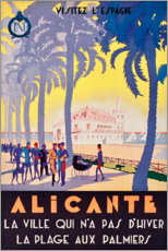 Premiumposter  Alicante (French) - Travel Collection