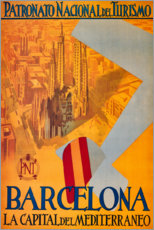 Premiumposter  Barcelona (Spanish) - Travel Collection