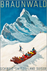 Premiumposter  Braunwald - Travel Collection