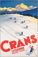 Canvastavla  Crans-Montana (French) - Travel Collection