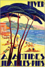 Premiumposter  Winter in Antibes (French) - Travel Collection